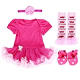 TANZKY Baby Girls' 4PCS First Tutu Romper Outfit Dress US Size 9M~12M