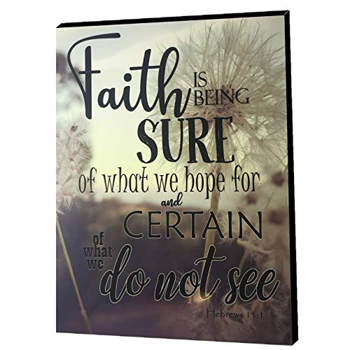 CATCH & THROW 'Faith' Wall Plaque, 11 x 8.8, Decorative Sign Quotes Sayings Inspirational Home Decor Wall Art Gloss God ()
