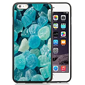 Fashion Custom Designed Cover Case For iPhone 6 Plus 5.5 Inch Phone Case With Blue Jelly Candy_Black Phone Case