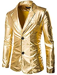 YKARITIANNA Mens Slim Fit Punk Suits Party Swag Tops Hippie Autumn Winter Casual Button Down Jacket
