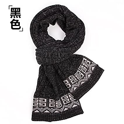 195952574c32b SED Scarf-Male Winter Long Thick Scarf Knitted Scarf All-Match Student  Couples Imitation Cashmere Scarf Female Autumn and Winter Korean Students  Knitted ...