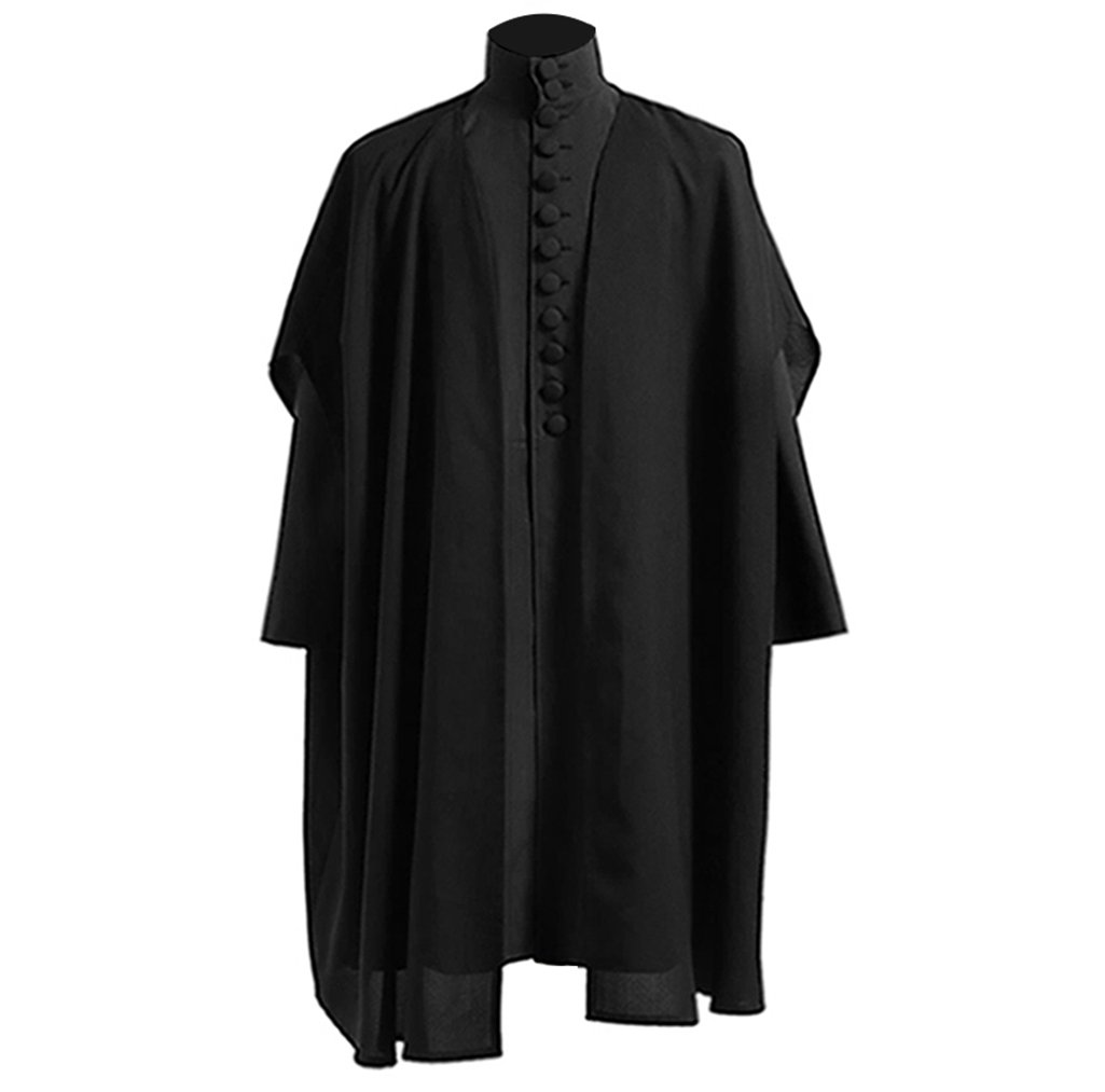 Men's Professor Severus Snap Black Robes Cosplay Halloween Costumes
