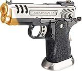 Evike WE-Tech Hi-Capa 3.8 Deinonychus Airsoft Gas Blowback Pistol (Color: Silver)
