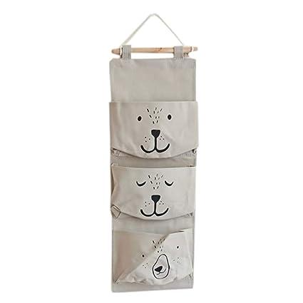 Amazon.com: Zainafacai Storage Bag Wall Mounted 3 Hanging ...