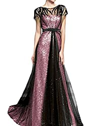 Women's A-Line Long Sequin Party Gowns