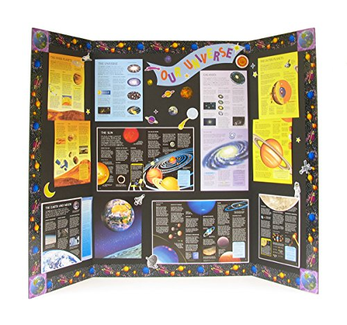 amazoncom elmers heavy duty tri fold display boards 36 x 48 inches black 12 count 730191 foam boards office products - Tri Fold Display Board Design Ideas