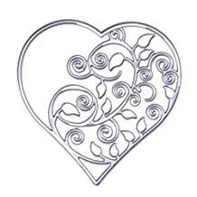 Chinatera 1PC Hollow Heart Cutting Dies Metal Stencils DIY Scrapbooking Diary Paper Card Decoration Hand Craft
