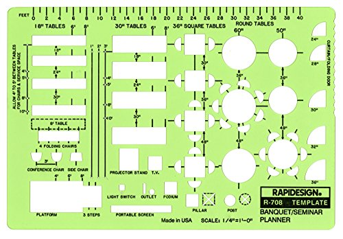 Rapidesign 1 4 Inch Banquet Seminar Planner Template 1 Each R708 Buy Online In Cambodia Rapidesign Products In Cambodia See Prices Reviews And Free Delivery Over 27 000 Desertcart