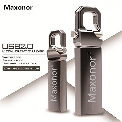 Maxonor 128GB USB 2.0 Flash Drive Waterproof Metal Pendrive High Speed Data Storage USB ()