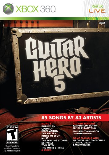 - Guitar Hero 5 - Xbox 360 (Game only)