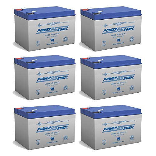 - Powersonic 12V 12Ah F2 Star II, X-Port X-Treme X-360 Zooma Electric Scooter Battery - 6 Pack
