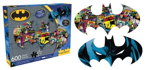 Aquarius Batman 600 Piece 2 Sided Diecut Jigsaw Puzzle