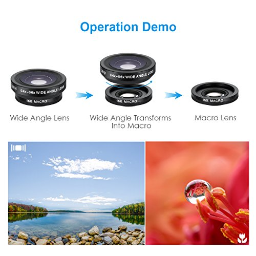 AMIR-2-in-1-Cell-Phone-Lens-with-Rechargeable-Beauty-10-LED-Flash-Light-15X-Macro-Lens-04X-06X-Wide-Angle-Lens-3-Adjustable-Brightness-Fill-Light-for-Samsung-Android-Most-Smartphones