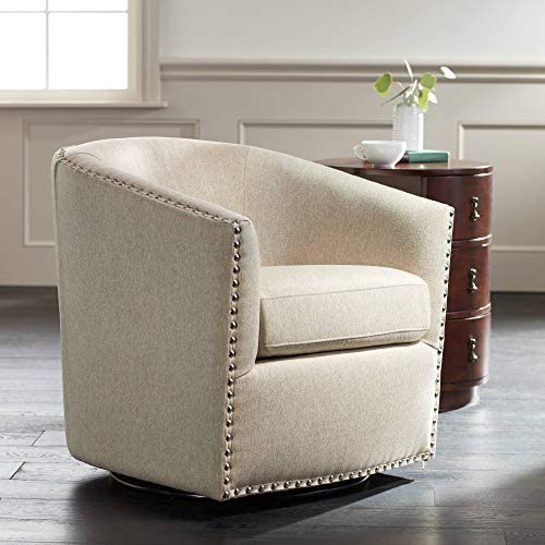 Fullerton II Oatmeal Swivel Accent Chair