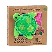 ZOOCCHINI Stroller Buddy Blanket, Turtle/Pink