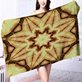 PRUNUS Quick Dry Bath towelDecor Trippy Ethnic Thai Mandala Motif with Dirty Grunge Smear and Rough Stains Absorbent Ideal for Everyday use