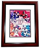 Discounted - Joe Montana Signed - Autographed San Francisco 49ers 8x10 inch Photo - MAHOGANY CUSTOM FRAME - QB's of the Century - Smudged - Guaranteed to pass PSA or JSA