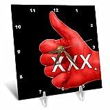 3dRose RinaPiro - Sex Quotes - Sex. - 6x6 Desk Clock (dc_266083_1)