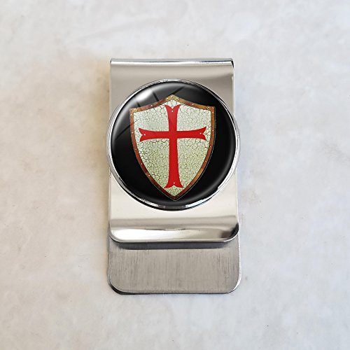 Knights Templar Stainless Steel Money Clip by CreepyHollowDesigns