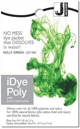 Jacquard iDye Poly - Tinte de tejidos para poliéster y nailon (vario colores disponibles) - Verde kelly