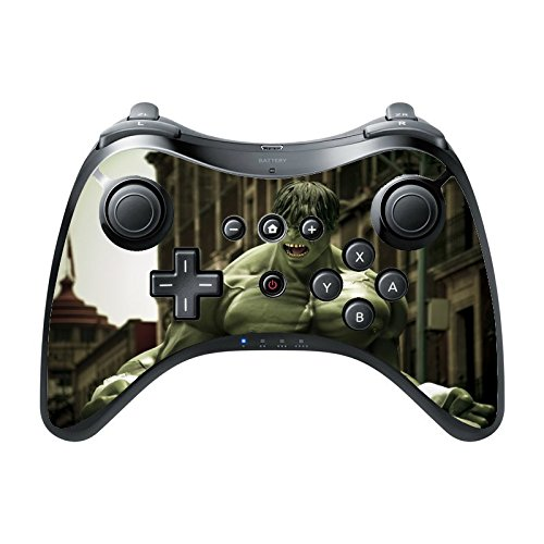 Comic Book Hero Wii U Pro Controller Vinyl Decal Sticker Skin by Compass Litho (Wii The Incredible Hulk)