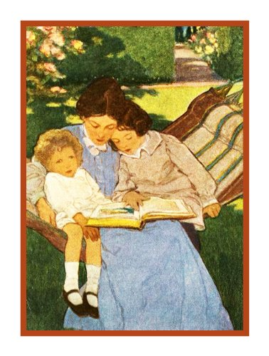 (Orenco Originals Reading Fairytales Mother by Jessie Willcox Smith Counted Cross Stitch Pattern)