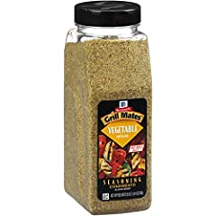 McCormick Grill Mates Vegetable Seasoning is a premium blend of spices, herbs and vegetables, including onions, tomatoes, garlic, red bell peppers, sun-dried tomatoes, leeks and chives. It naturally enhances the delicious flavor of vegetables...