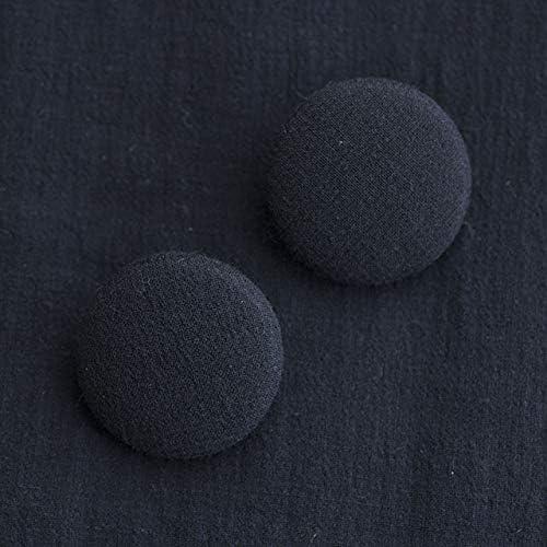 くるみボタン(平くるみボタン) #BT186 1穴 30mm C/#NAVY ネイビー 2個セット