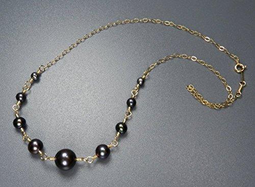 Handmade In Alaska Freshwater Peacock Black Pearl 14K Gold Filled Necklace