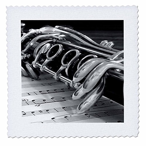 3dRose qs_4107_4 Clarinet-Quilt Square, 12 by 12-Inch