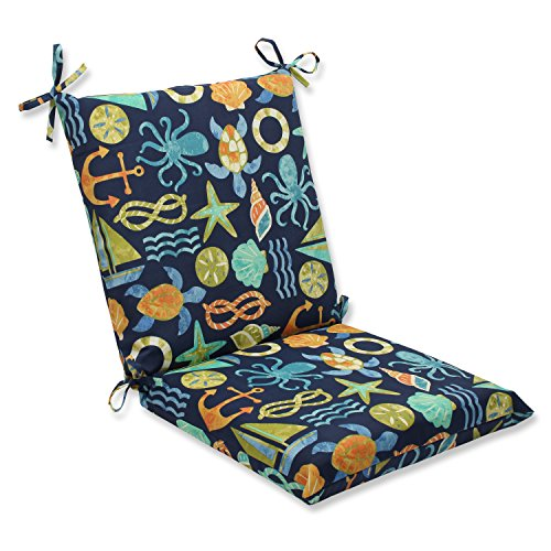 Pillow Perfect Outdoor Seapoint Squared Corners Chair Cushion, Neptune