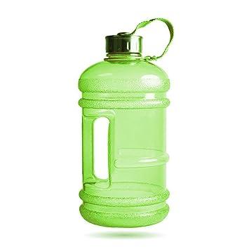 KOBWA - Botella de Agua Grande DE 2,2 l con asa, plástico sin