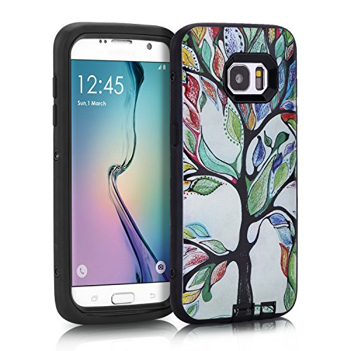 Price comparison product image Anyshock [Armor Series] Heavy Duty Shockproof Durable Full Body Protection Rigged Hybrid Case for Samsung Galaxy S7 Edge (Life tree)