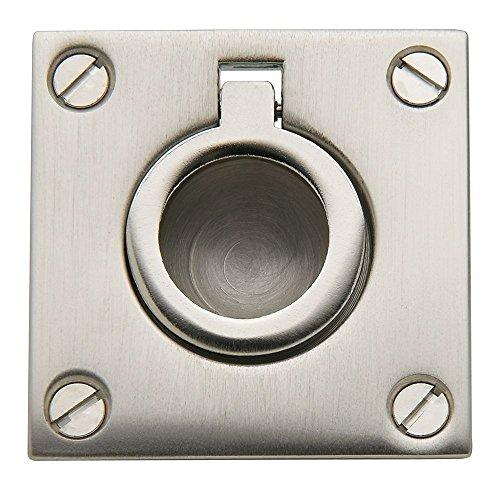 Baldwin 0393.150 Flush Ring Door Pull for Sliding Doors, Satin Nickel