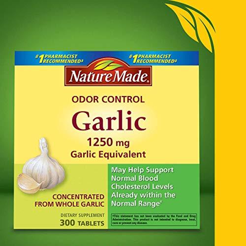 Nature Made Odor Control Garlic, 300 Tablets
