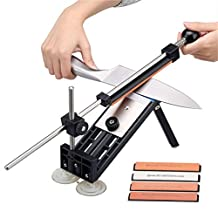 Professional Knife Sharpener Kitchen Sharpening System with 4pcs Whetstones Pro Grindstone