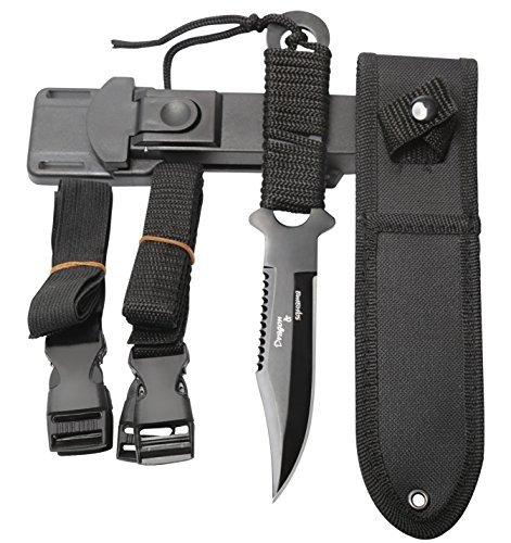 Dive Knife 2 Edge Black Tactical Sharp knives