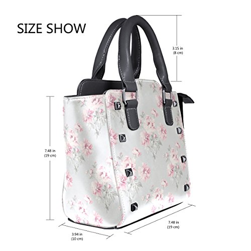 Leather Bags Flower Retro Tote Women's Handbags TIZORAX Shoulder Retro TIZORAX XfvFU8U