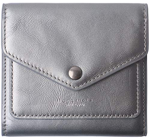 Small Leather Wallet for Women RFID Blocking Women's Credit Card Holder Mini Bifold Slim Pocket Purse Silver Grey