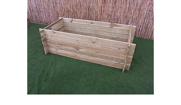 Compostador de madera (para cultivo o compostador, medidas ...