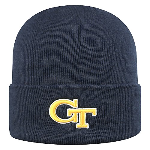 Top of the World Georgia Tech Men's Winter Knit Hat Icon, Navy, One Fit (Georgia Tech Knit)
