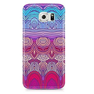 Samsung Galaxy S6 Edge Case Hairs Pattern Mirror Effect-Hard Plastic Tough Wrap Around Phone Cover