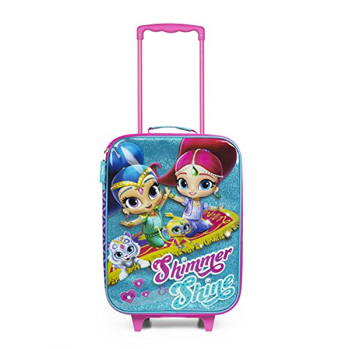 UPC 688955859715, Nickelodeon Shimmer and Shine Purple Glitter Pilot Case Luggage for Girls