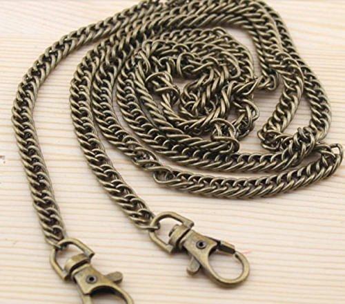 1 Piece Bag Metal Chain Strap Shoulder Strap Handbag Purse Handle 120CM Antique Brass