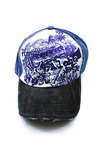 Azul Aloha Impreso Sombrero Gorro Post 808 Kauai Hawaii de Maui en aqO5vnpw