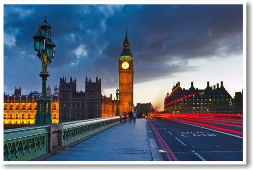 Big Ben Clock Tower, London England - NEW World Travel Poster