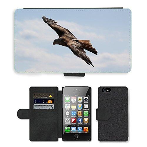 GoGoMobile PU Leather Flip Custodia Protettiva Case Cover per // M00123728 Oiseaux Aigle // Apple iPhone 4 4S 4G
