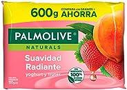 Palmolive Naturals Jabón de Tocador en barra Aroma Yoghurt y Frutas, Fabricado responsablemente, con humectant