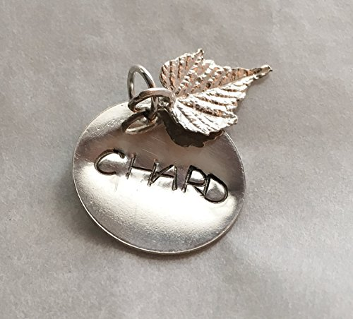 Wine Lover's Charm Chardonnay Sterling Silver Gift (Silver Chardonnay)