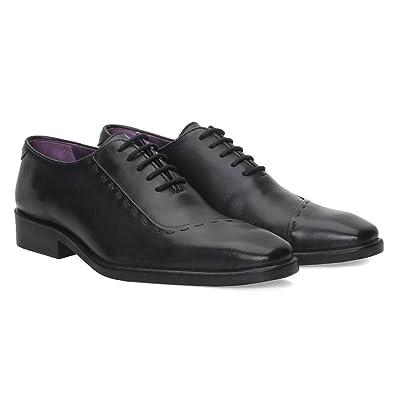 b902e13ac99 BRUNE Men Black Color Genuine Leather Oxford Shoes Designer leather oxford  shoe Branded leather oxford shoe Best leather formal shoes for men Stylish  ...